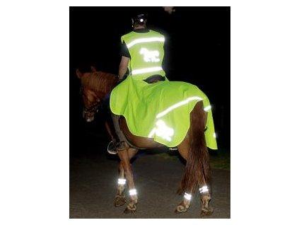 Reflexní vesta pro jezdce